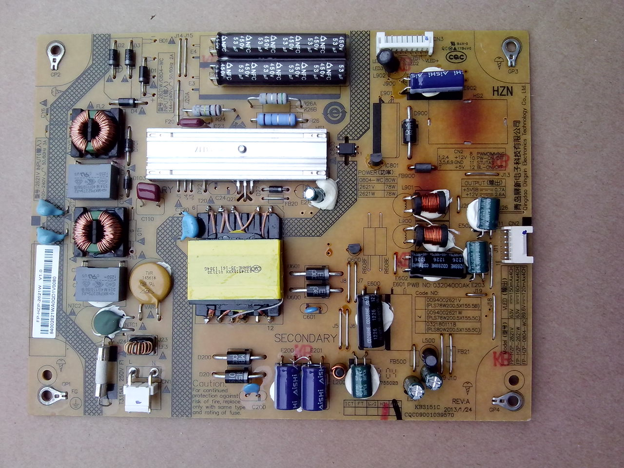 0094002621W power supply board