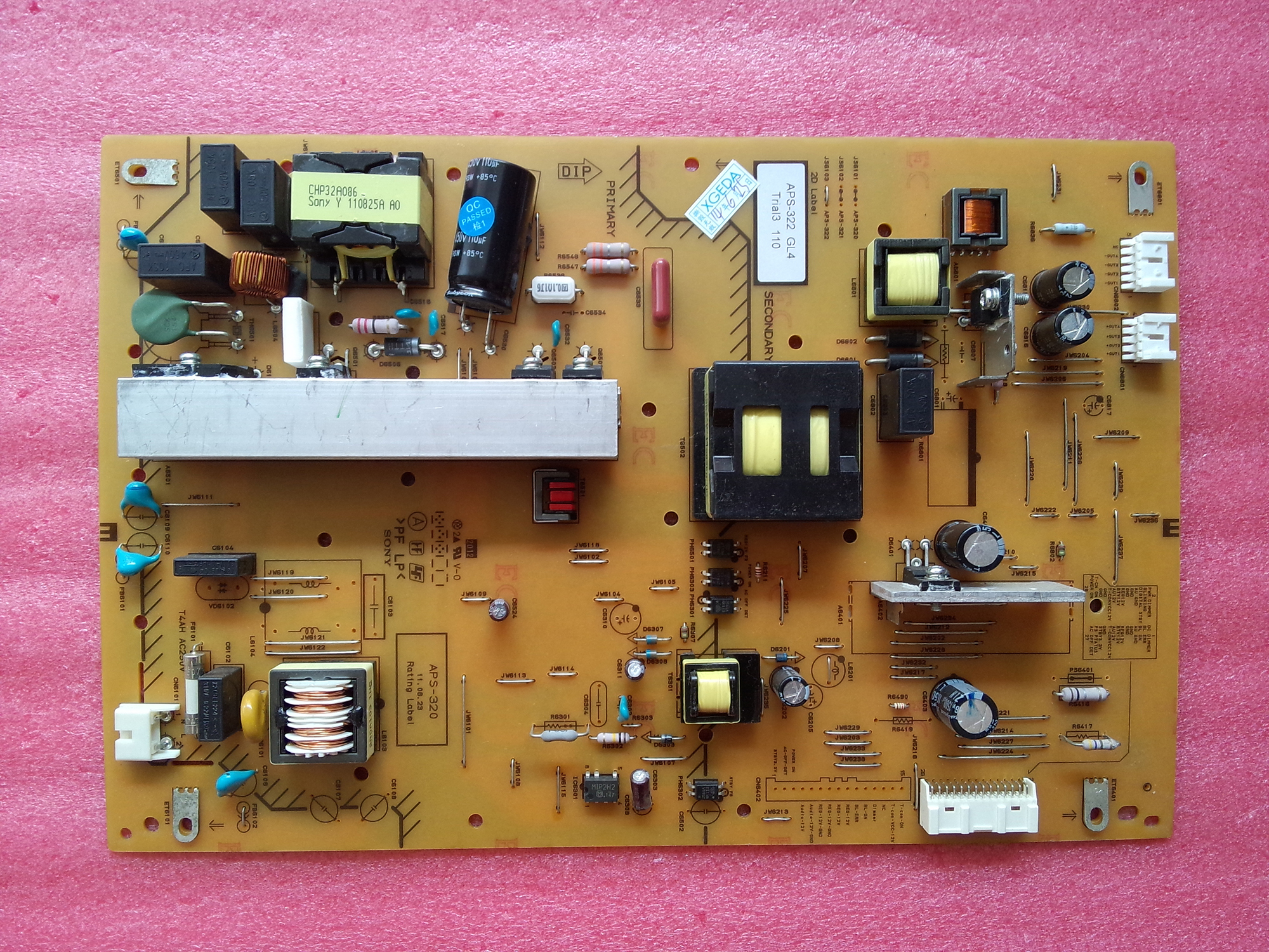 1-886-370-12 APS-322 POWER SUPPLY BOARD
