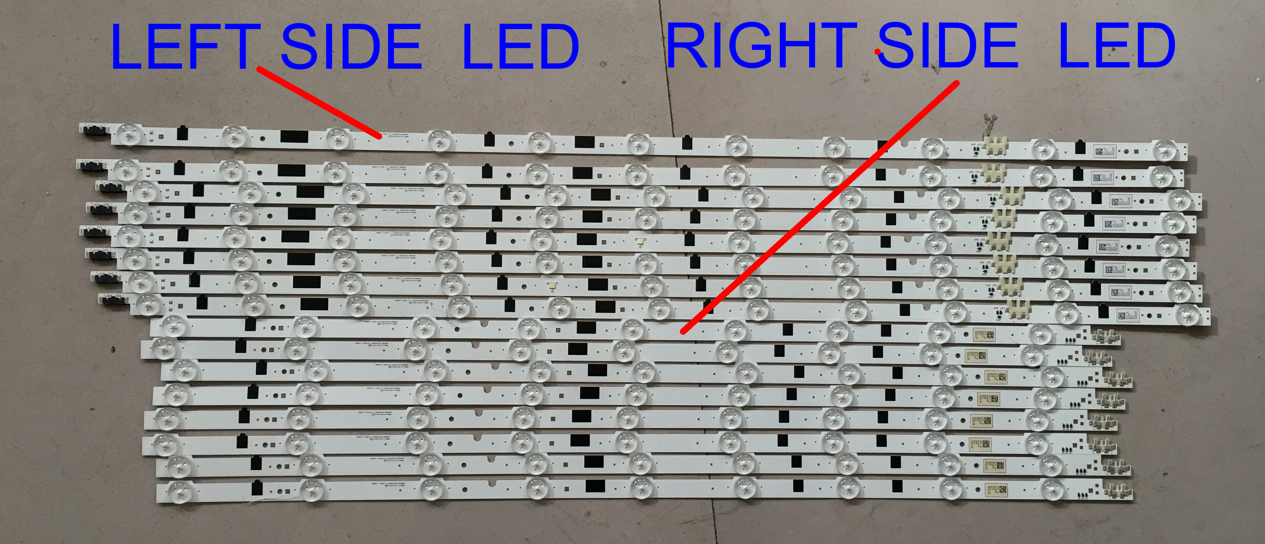 samsung UA65F6400EJ CY-HF650CSAV1H 2013SVS65F L11 2013SVS65F R9 USED and tested  led backlight bar 1pair