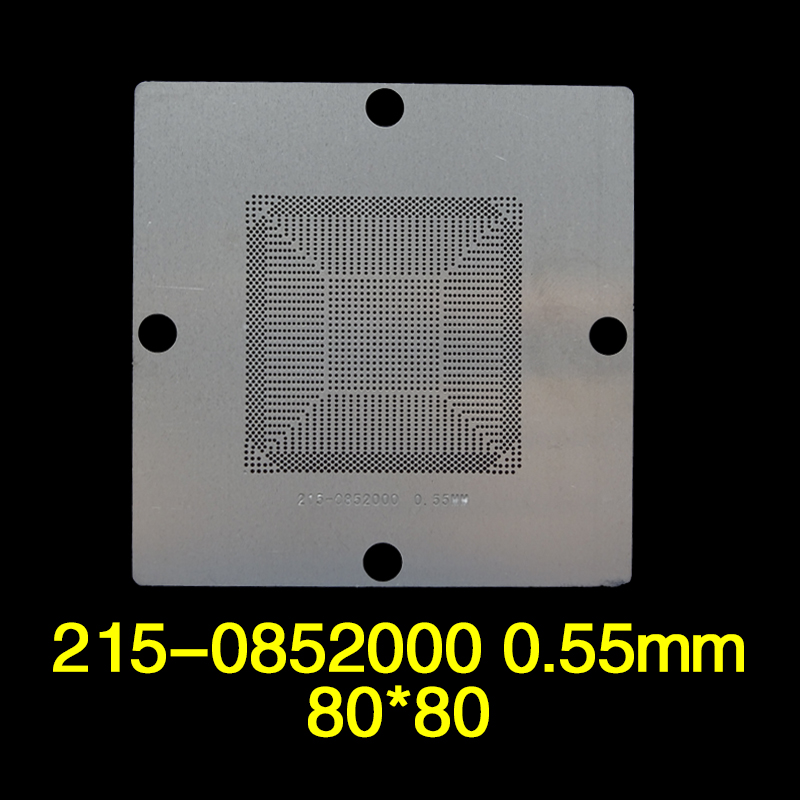 215-0852000 0.55mm 80*80mm BGA reball Stencil