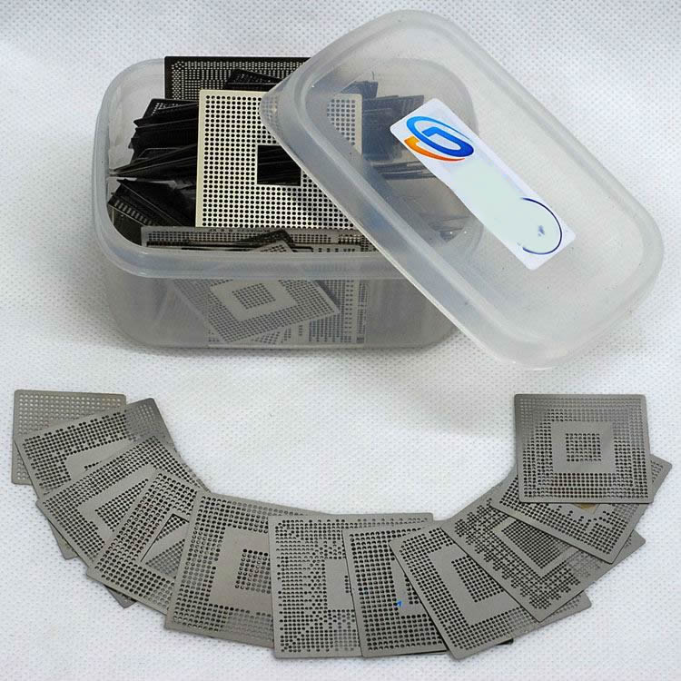 254 PCS Heated directly BGA Reballing South and North Bridge Graphics stencils templates