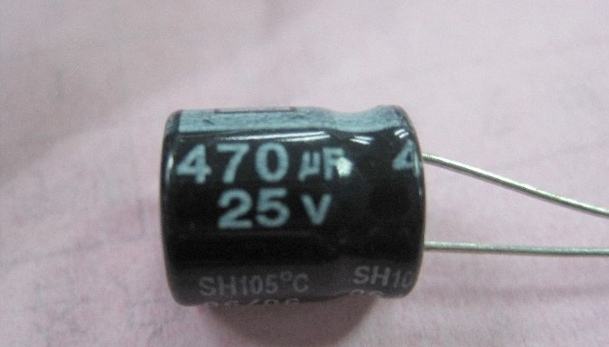 25V 470uF ROHS capacitor 10pcs/lot