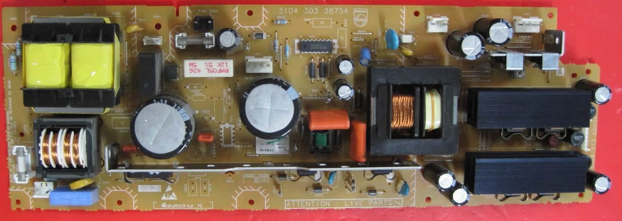 3104 303 38754 philips  power board