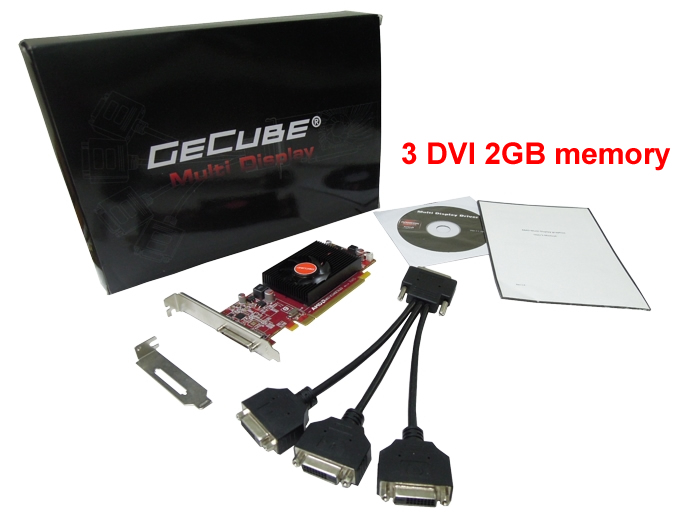 3 DVI  3 multidisplay graphics card 2GB