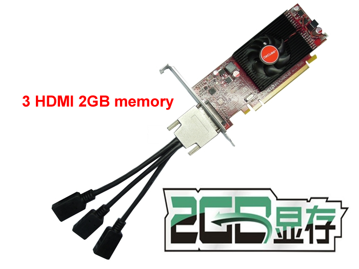 3 HDMI  3 multidisplay graphics card 2GB