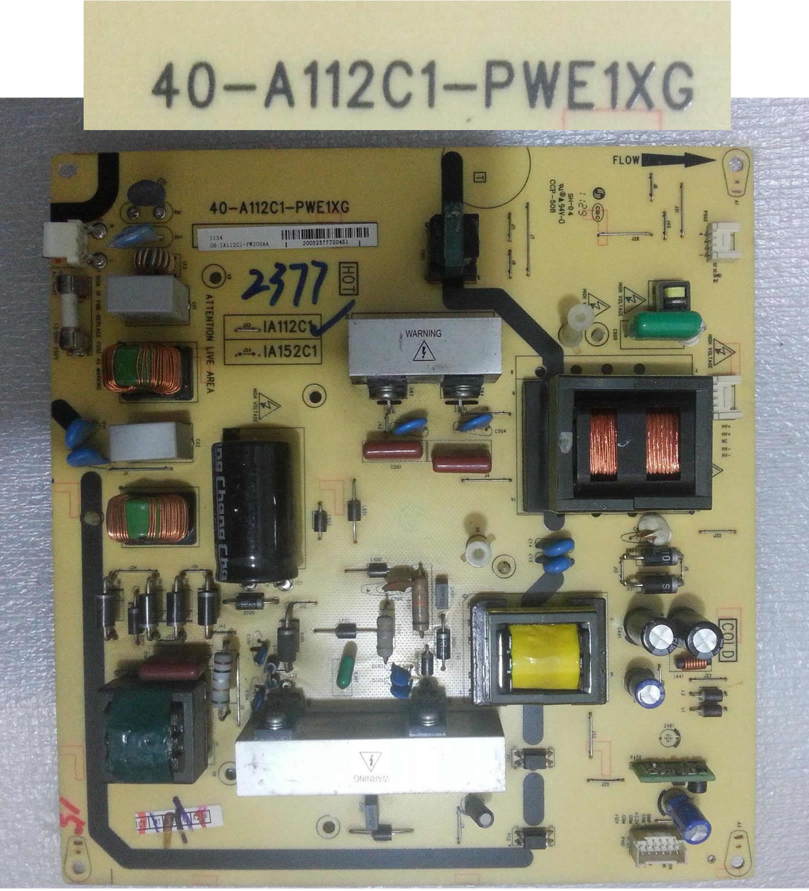 40-A112C1-PWE1XG 08-IA152C1-PW200AA power board