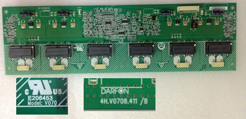 4H.V0708.411/B V070 LCD TV backlight inverter board