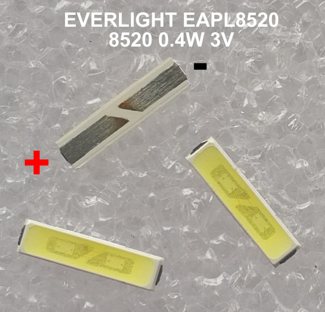 62-122UMRIC EVERLIGHT  EAPL8520  8520 0.4W 3V 8520 TV LED 50pcs/lot