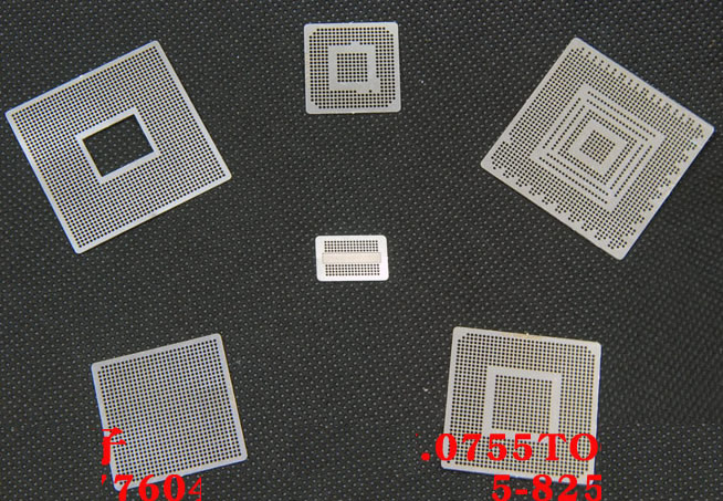 6pcs XBOX 360 CSP PS3 GPU CPU BGA reballing stencil template 0.6mm