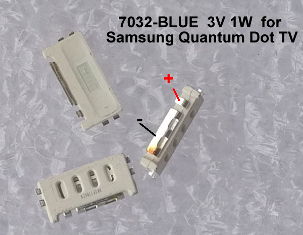 7032-BLUE led backlight 3V 1W  for Samsung Quantum Dot TV 20PCS/LOT