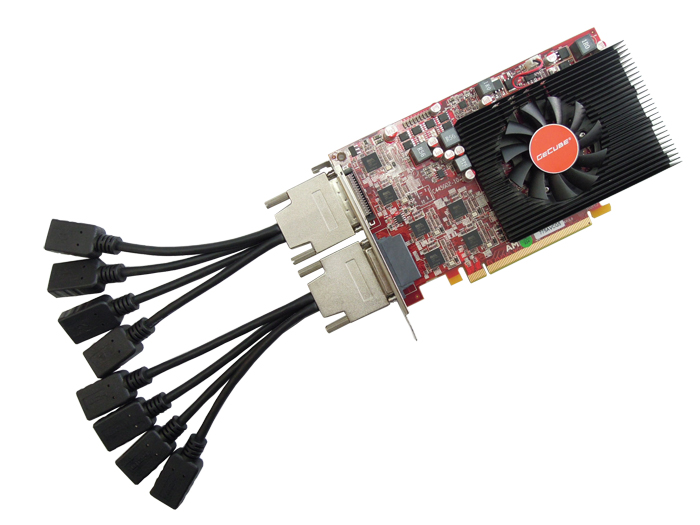 8 HDMI multidisplay graphics card