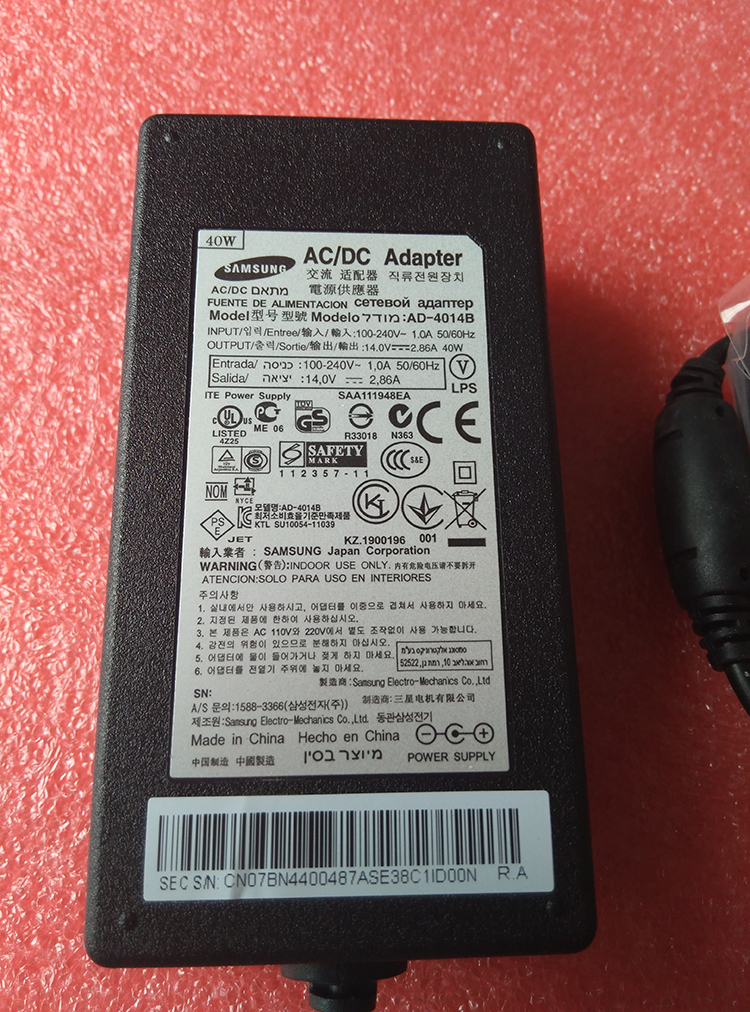 AD-4014B 14V2.86A samsung new orginal ac adapter