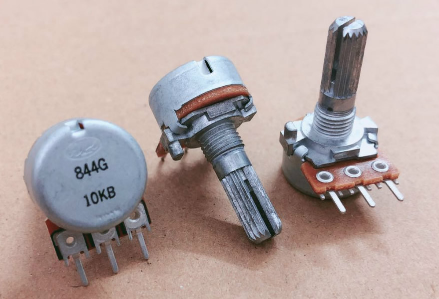 ALPS 16mm B10K 10KB volume potentiometer single-unit 20MM teeth serrated slotted shaft