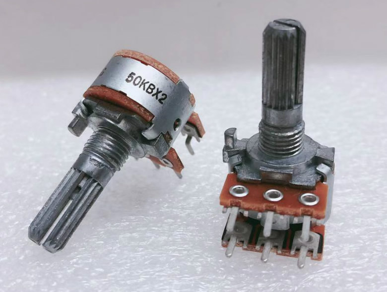 ALPS 16mm B50KX2 50KB volume potentiometer Dual-unit 20MM teeth serrated slotted shaft