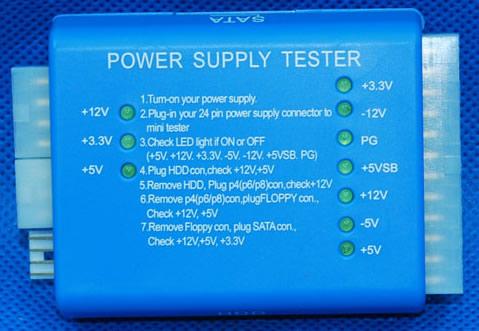 ATX Power Supply Tester 20PIN/24PIN SATA Connector Tester Tool Kit ...