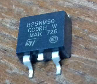 STB25NM50N B25NM50N B25NM50 TO-263 5pcs/lot