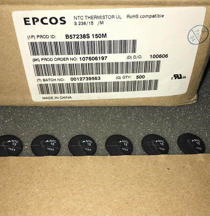 EPCOS thermistor B57238S150M NTC 15R 4.4A 16MM 5pcs/lot
