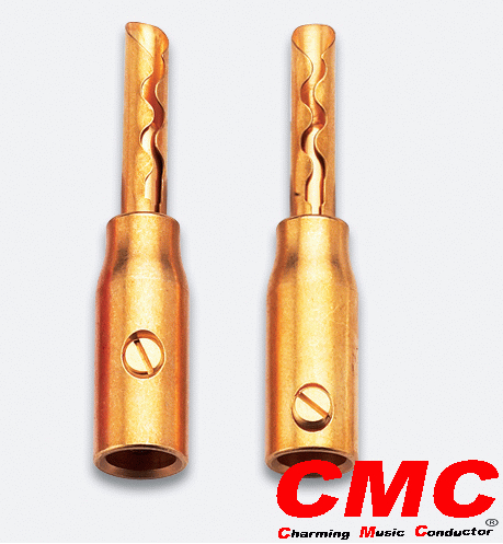 CMC-0658-GF High Performance Audio Banana Connectors Gold-plated