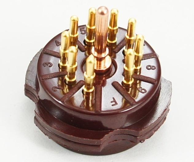 CMC Bakelite for 9-Pin Gold Plated Tube Socket brown CMC Bakelite
