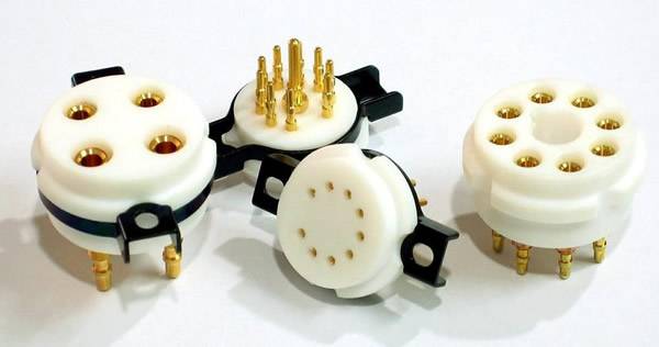 CMC Teflon 9Pin Gold Plated Tube Socket CMC Teflon 9Pin Gold Plated