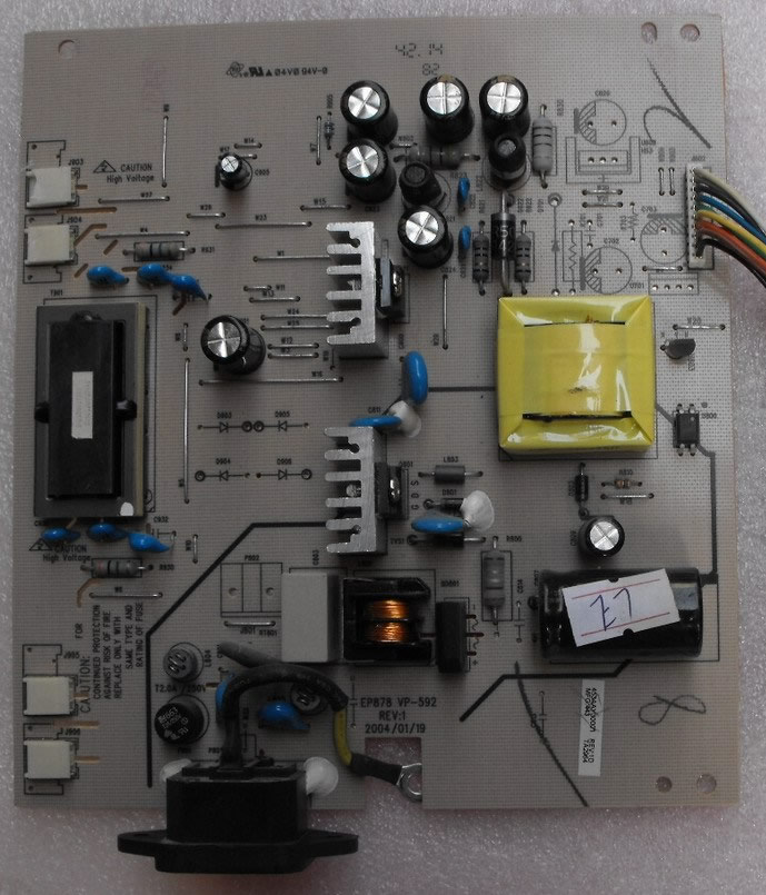 EP878 VP-592 REV:1 power board