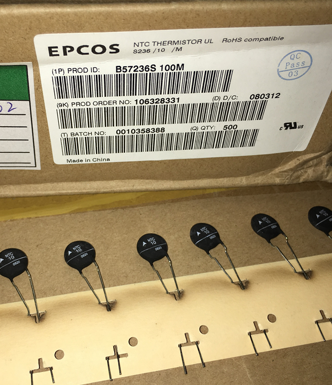 EPCOS thermistor B57236S100M NTC 10R 10D-11 3.5A 5pcs/lot