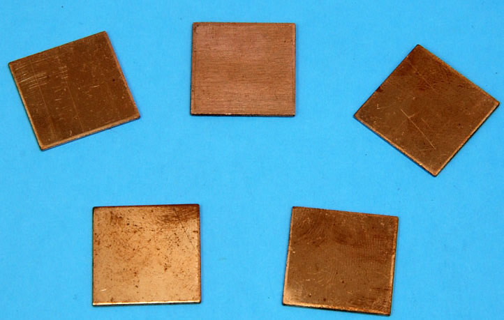 Heatsink Copper Pad Shim for laptop 20mm*20mm 10pcs/lot