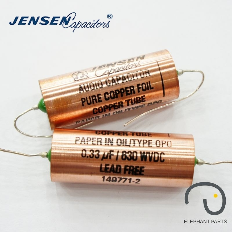0.33uf 630V 22x56mm AUDIO CAPACITOR DENMARK JENSEN