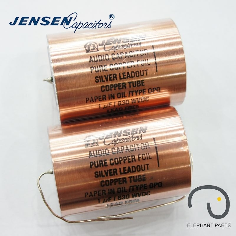 1uf 630V 42x58mm AUDIO CAPACITOR DENMARK JENSEN