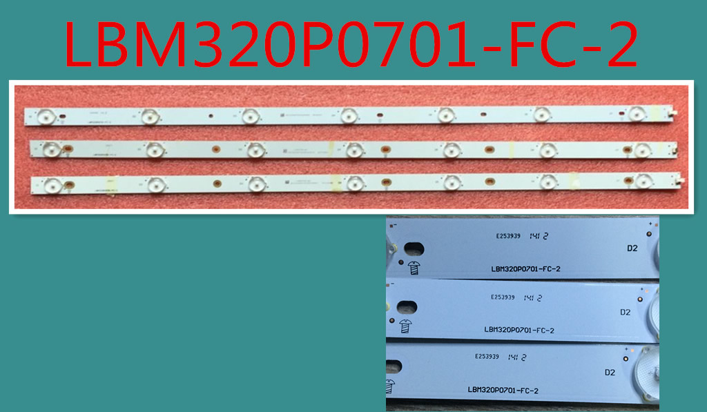 LBM320P0701-FC-2 LED BACKLIGT STRIP FOR AOC 315LM00002A  3PCS/SET