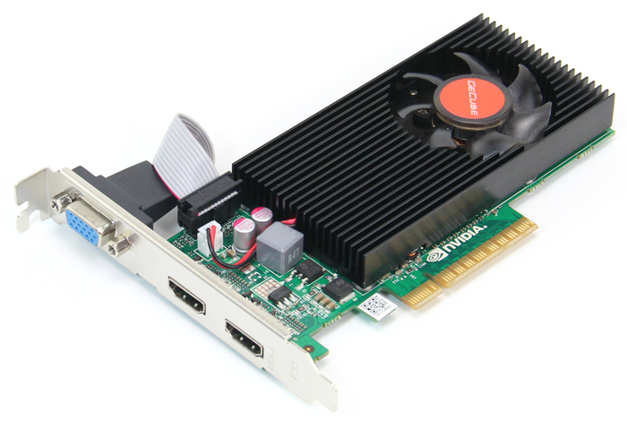 PCI-E x8 2 HDMI VGA multidisplay graphics card