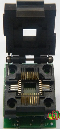 PLCC32 to DIP32 adapter with cover