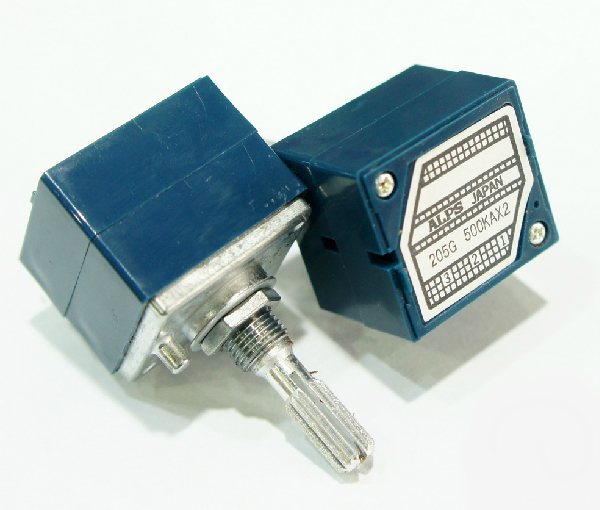 ALPS 27mm Metal Smooth Shaft Type RK271 Series 500KA audio High performance potentiometer