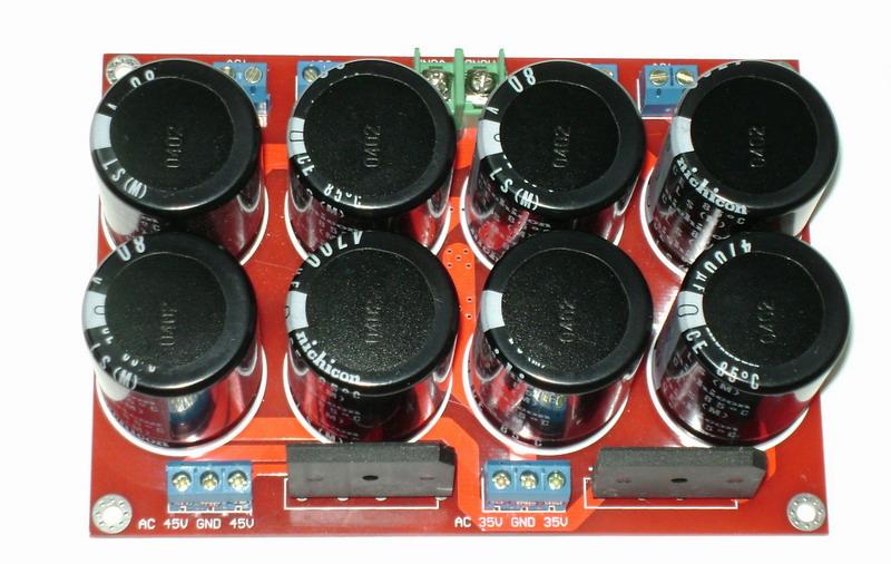Dual Input 8 4700uf Filter Capacitor Rectifier Amplifier