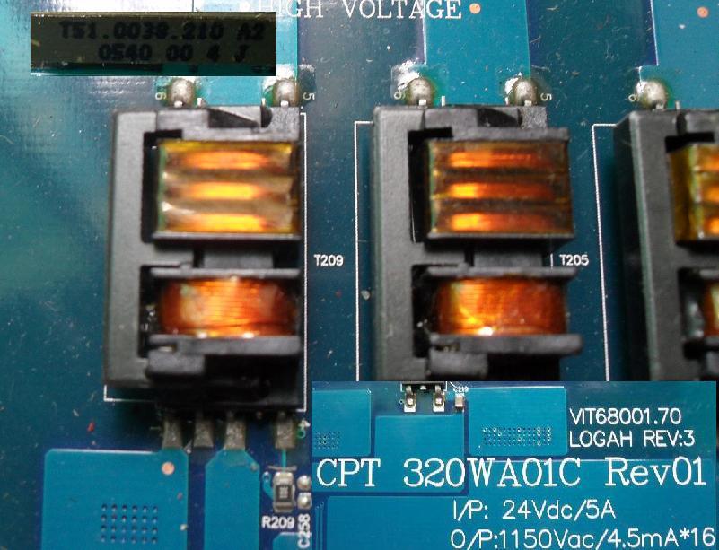 LCD Inverter Trafo T51.0038.212 ; Logah ; Inverterboard Trafo