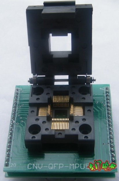 TQFP44 DIP40 adapter with cover