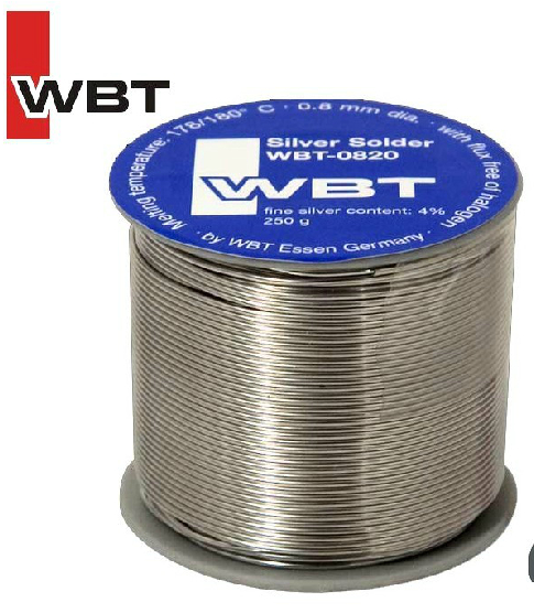 Silver solder WBT-0820 fine silver content:4% 0.8mm 5meters/lot