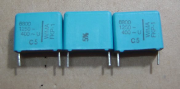 WIMA 1250V682 (6800P=6N8) 5pcs/lot FKP1 spacing 15MM