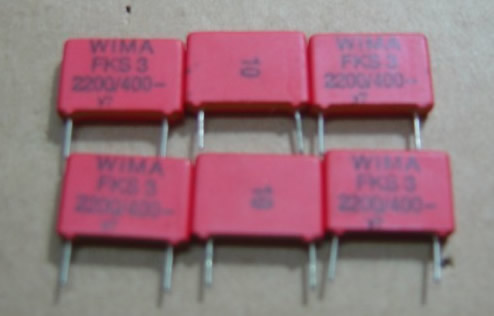 WIMA 400V2200P (222=2N2)5pcs/lot FKP1 spacing 10MM