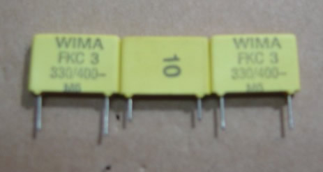 WIMA 400V330P  5pcs/lot FKP1 spacing 10MM