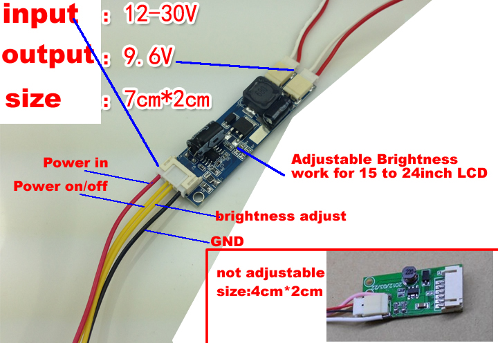 LED converter adjustable