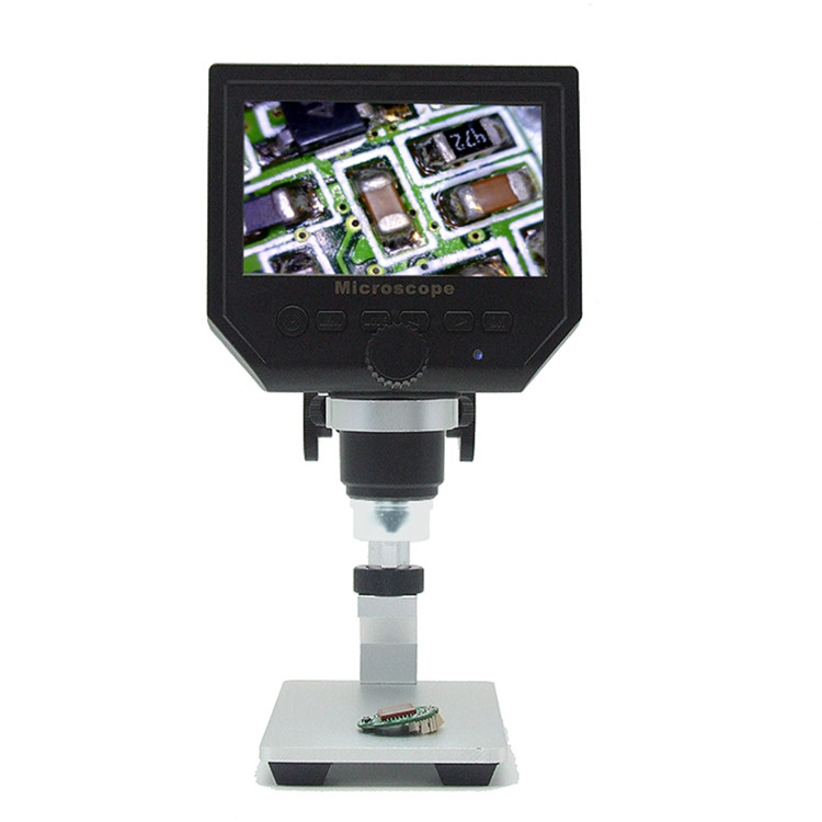 "600X 4.3"" LCD USB Digital Microscope Portable 8 LED 3.6MP VGA Electronic HD Video Microscopes  Endoscope Magnifier Camera"