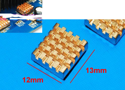 Graphics memory copper heatsink cooler 4pcs/lot