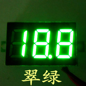 4.5-30V  Voltage LED Display 2 wire green