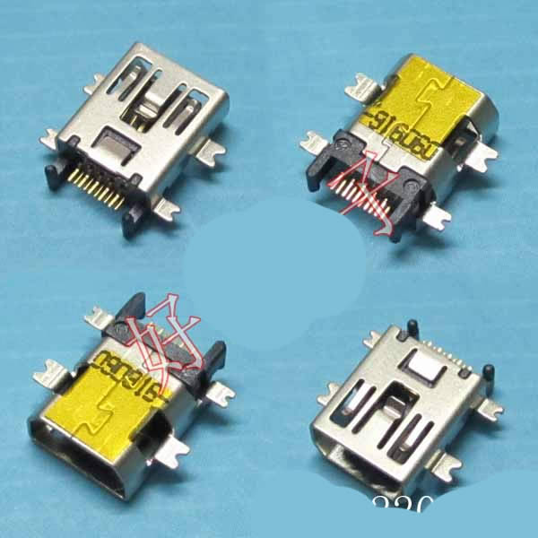 mini USB 10pin 4smd 10.5*10.5*3.8mm