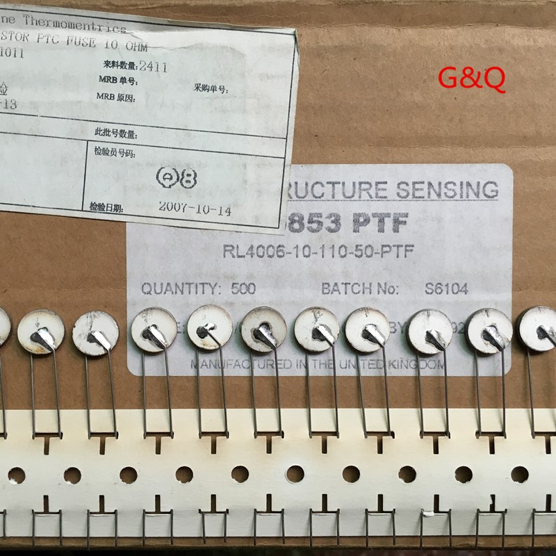 Amphenol PTC 10Ohms RL4006-10-110-50-PTF 5pcs/lot